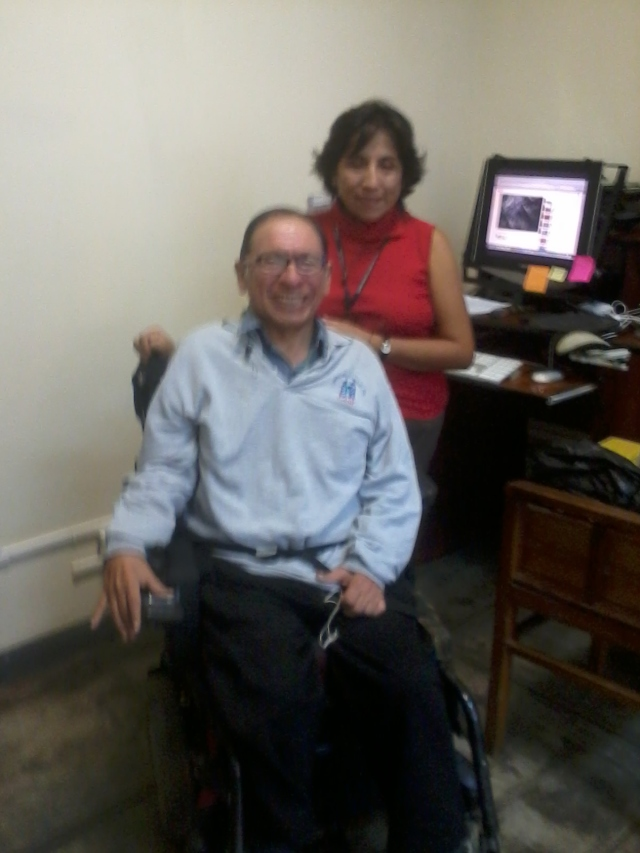 With Denisse Ramos, coworker at the administration office (in 2014)